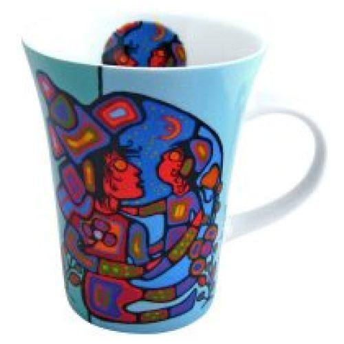 Norval Morrisseau Mother & Child Porcelain Mug