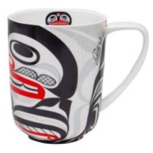 Curtis Wilson Killer Whale Crosshatch Porcelain Mug