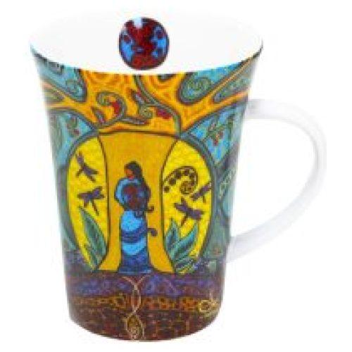 Leah Dorion Strong Earth Woman Porcelain Mug