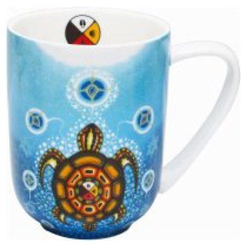 James Jacko Medicine Turtle Porcelain Mug