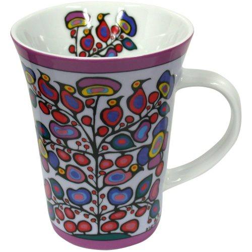 Norval Morrisseau Woodland Floral Porcelain Mug
